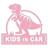 imoninn KIDS in car ステッカー 【シンプル版】 No.71 ティラノサウルスさん (ピンク色)