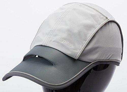 Airpeak Speed(エアピーク スピード)/高通気性キャップ(帽子)/グレー/フリーサイズ/ランニング・トライアスロン・テニスなどのスポーツ向け/熱中症対策(蒸れない)