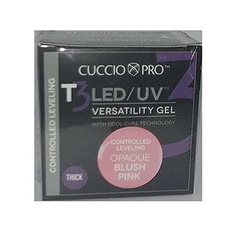 ブロック先史時代の質量Cuccio Pro - T3 LED/UV Gel - Controlled Leveling - Opaque Blush Pink - 1 oz / 28 g