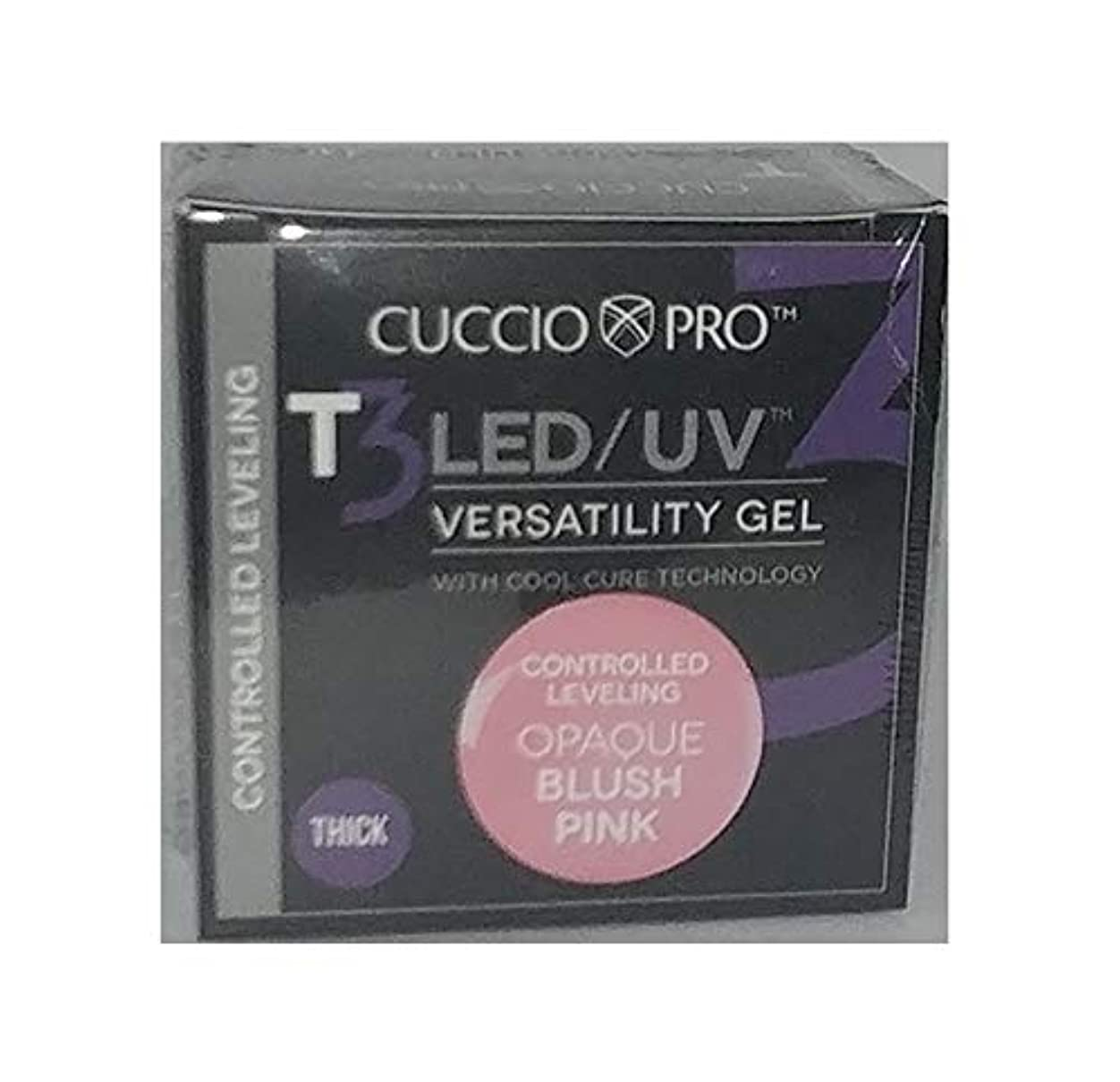カスタムロック考えCuccio Pro - T3 LED/UV Gel - Controlled Leveling - Opaque Blush Pink - 1 oz / 28 g
