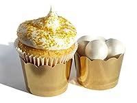 Bakers Bling Gold Foilカップケーキラッパー、デザートカップ、20のセット