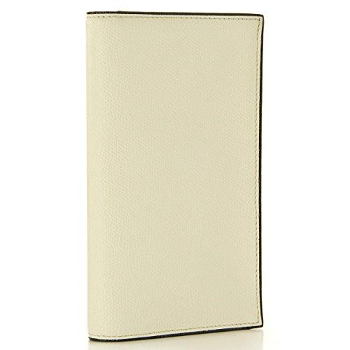 Valextra(ヴァレクストラ) 財布 メンズ グレインレザー 2つ折り長財布 ホワイト V8L70-028-000WRD[並行輸入品]