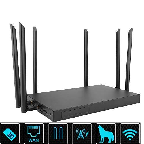 Mugast WIFIルータ 有線/無線 USBドングル モバイル 2.4G、5.8G デュアルバンドWiFi USBルーター (USプラグ)