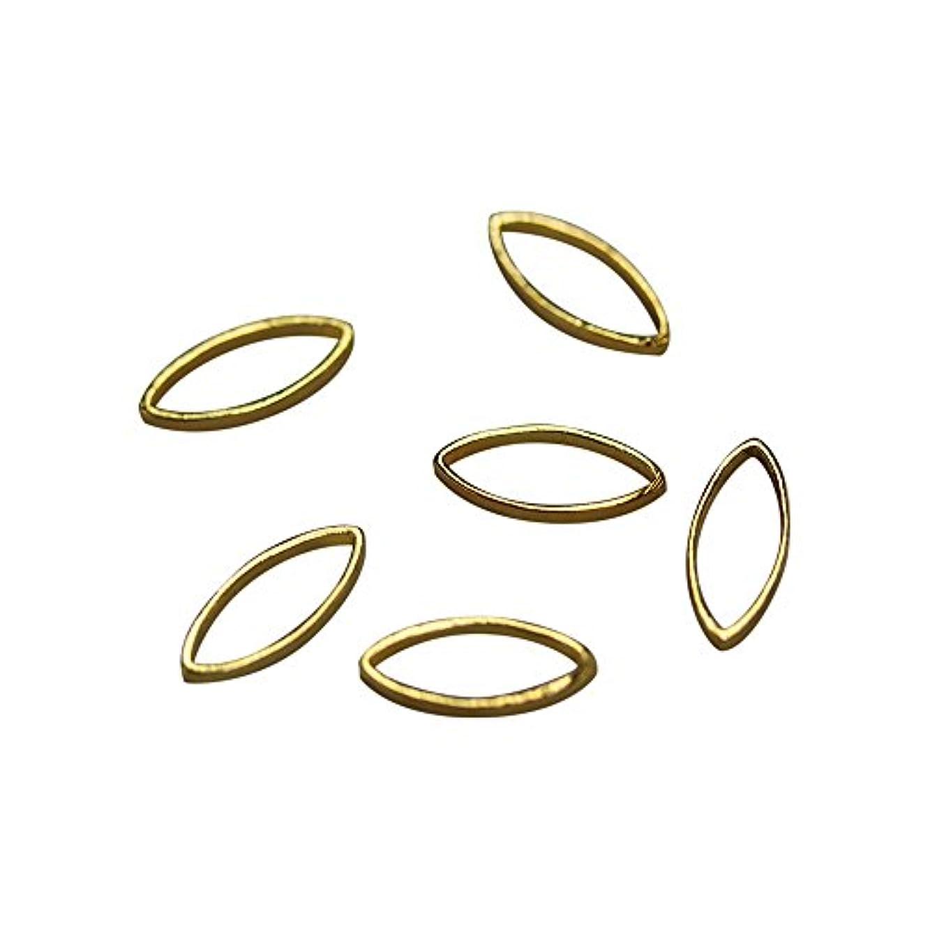 ハント脱臼する食器棚Bonnail×RieNofuji Loop leaf S ゴールド