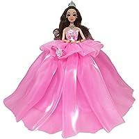 Qiyun人形Clothing 29 cm人形のウェディングドレスwith Large Hemlines子供の布シリーズMiniバービー(Not Include人形) オーナメントクリスマスギフト CY-1214-HS3