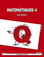 Matemàtiques 4 : quadern 1 : 4 educación primaria : cuaderno del alumno : Comunidad Valenciana