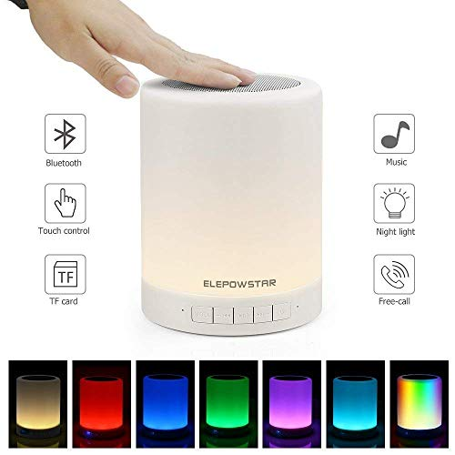ELEPOWSTAR ナイトライト Bluetooth スピーカーキャンプライト usb充電式 七色変換 三階段照度 停電対策