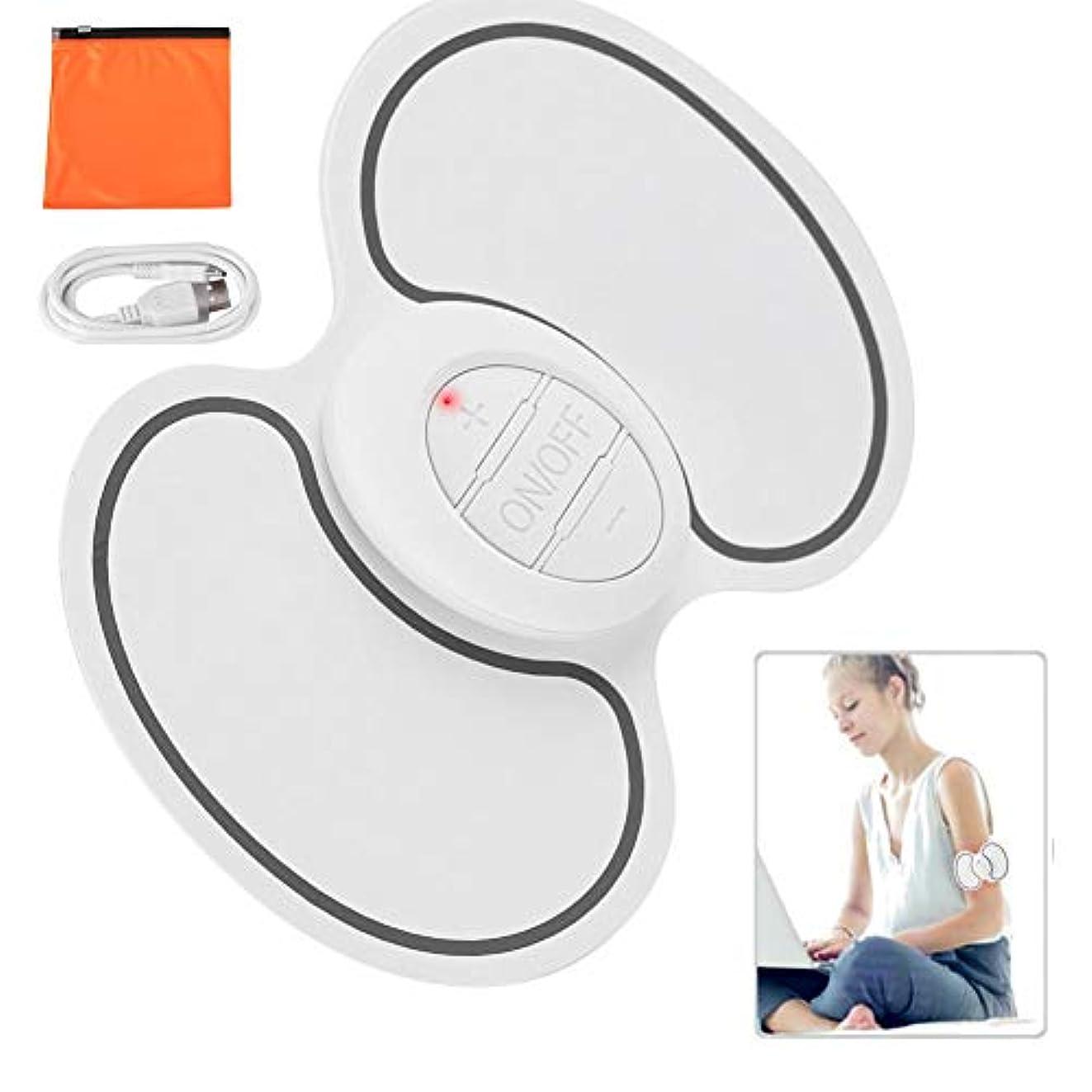 重要配る広々首、背中、肩、自宅での使用、車、オフィスの強度痛み疲労のための熱ディープニーディングマッサージ付きEMCネック肩筋パルスマッサージパッド