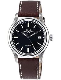 [ボールウォッチ]BALLWATCH 腕時計 トレインマスター チタニウム ブラック文字盤 レザーベルト 自動巻き NM1038D-L5J-BK メンズ 【並行輸入品】