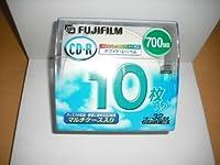 FUJIFILM CDR700MB ホワイトプリンタブル マルチケ-ス入り CD-R700WP10HC