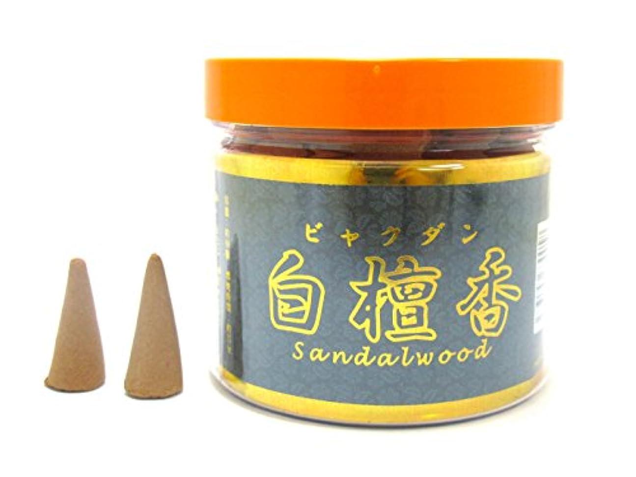 解説広大なセットアップお香 白檀香 sandalwood 三角香 コーン 約80個入り KO-006