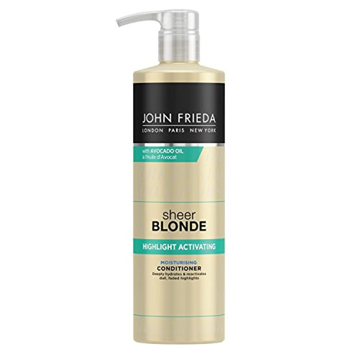 成長する航空便バルクJohn Frieda Sheer Blonde Highlight Activating Moisturising Conditioner for Lighter Shades 500ml