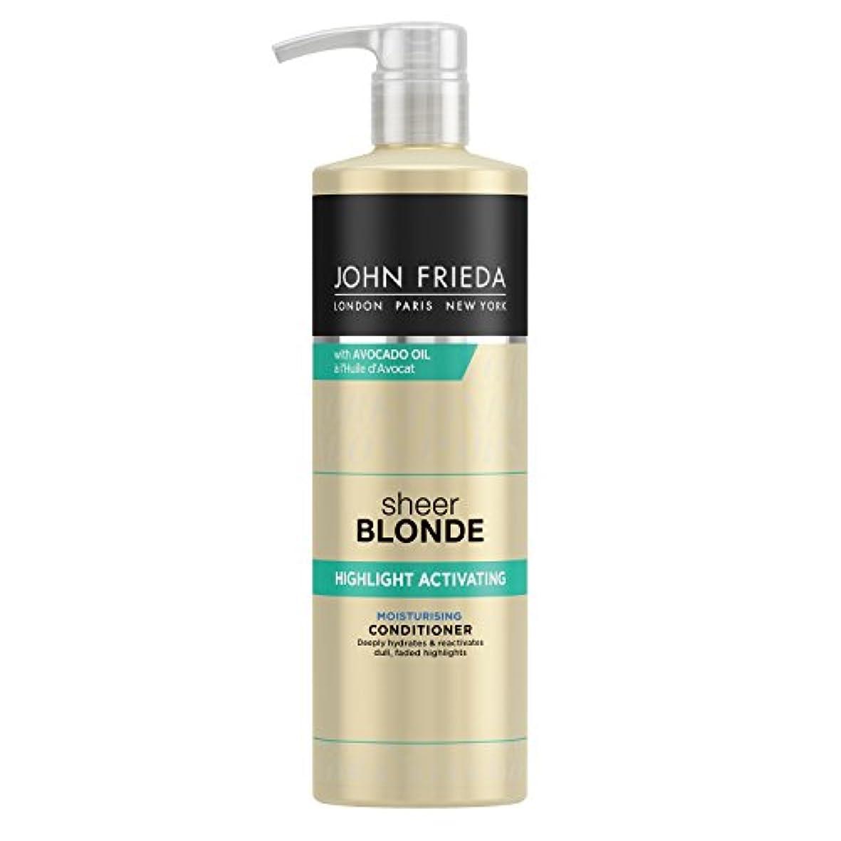 絡み合い椅子ほとんどないJohn Frieda Sheer Blonde Highlight Activating Moisturising Conditioner for Lighter Shades 500ml