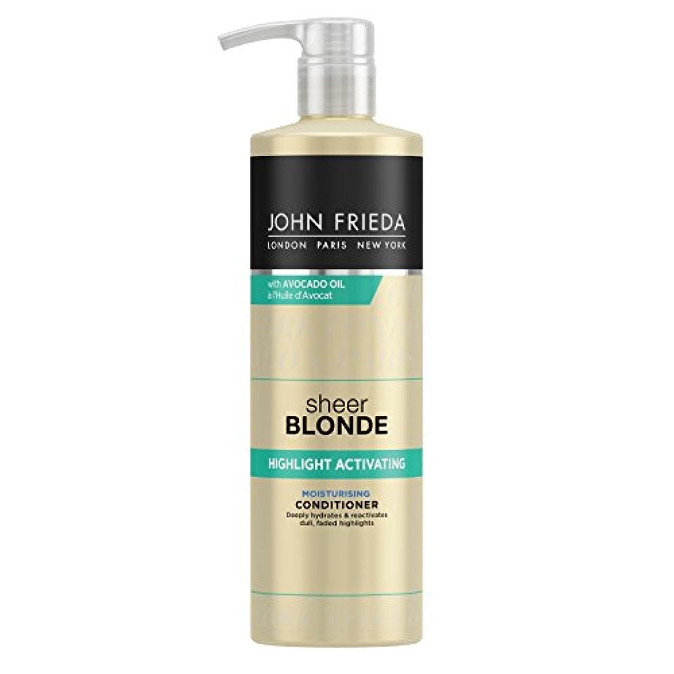 月曜ナース線形John Frieda Sheer Blonde Highlight Activating Moisturising Conditioner for Lighter Shades 500ml