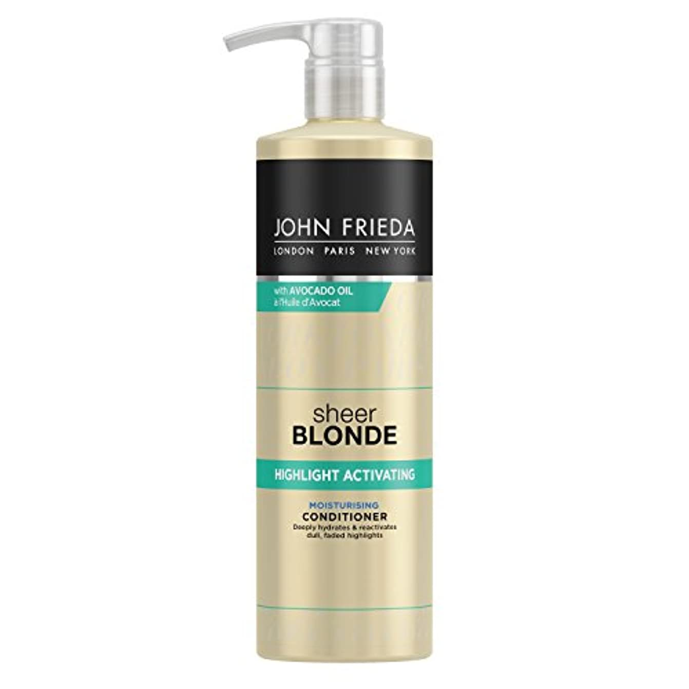別れるバーターインレイJohn Frieda Sheer Blonde Highlight Activating Moisturising Conditioner for Lighter Shades 500ml