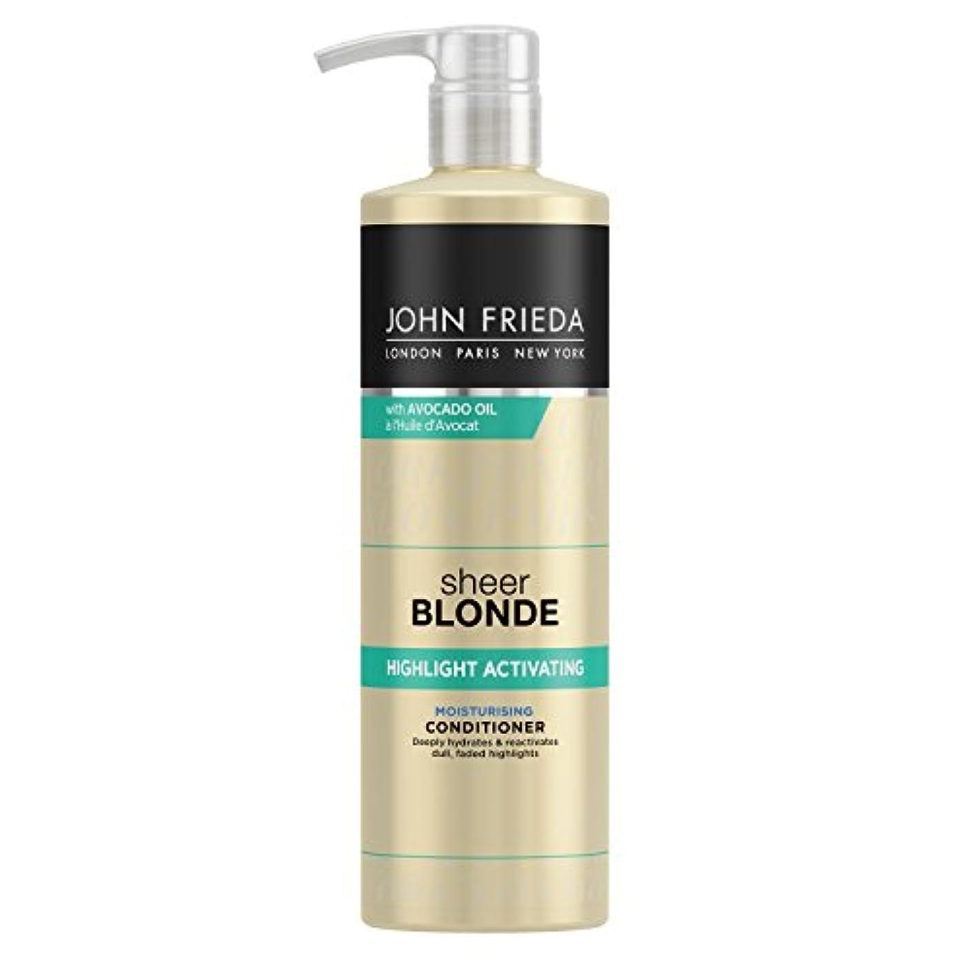 軍冷蔵庫酸っぱいJohn Frieda Sheer Blonde Highlight Activating Moisturising Conditioner for Lighter Shades 500ml