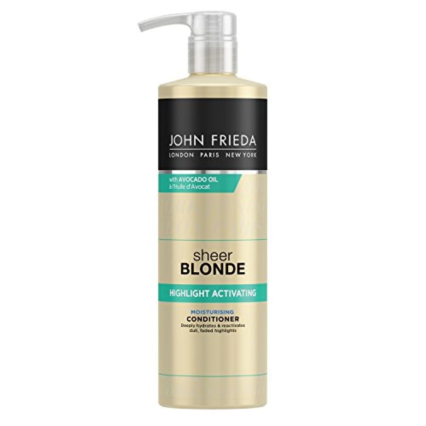 斧シャベル豆腐John Frieda Sheer Blonde Highlight Activating Moisturising Conditioner for Lighter Shades 500ml