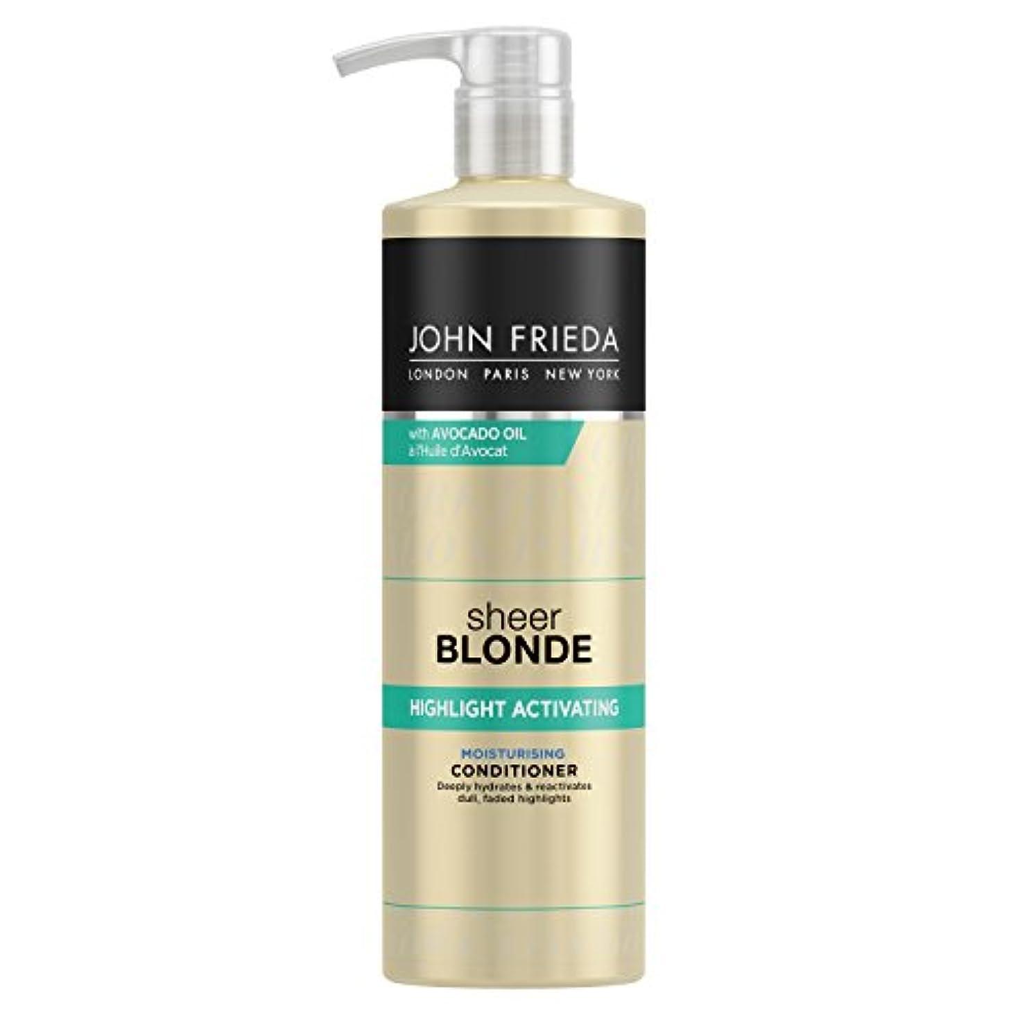 ネーピアステッチ不合格John Frieda Sheer Blonde Highlight Activating Moisturising Conditioner for Lighter Shades 500ml