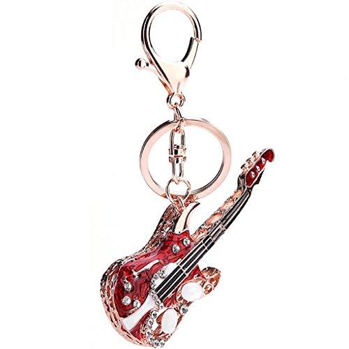 JIAYIQI[ジアイェッキー]新着ダイヤモンドのギターのペンダントキーホルダーキーホルダーアクセサリー