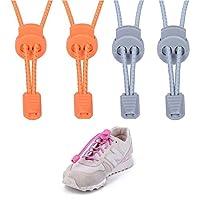 BlueSnow 2パックゴムno tie shoe laces