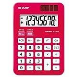(まとめ) シャープ SHARP カラー電卓 8桁 ミニミニナイスサイズ パプリカレッド EL-760T-RX 1台 【×5セット】 [簡易パッケージ品]