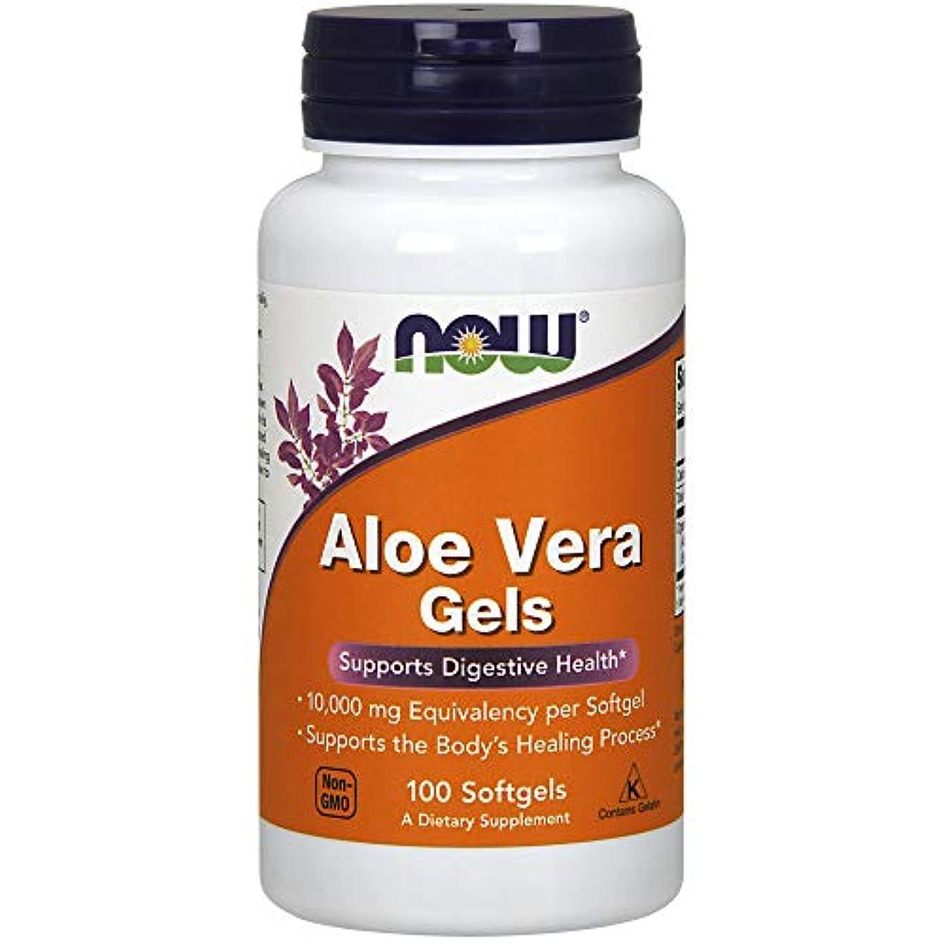 シロクマコイル晩ごはんNow Foods, Aloe Vera Gels, 100 Softgels
