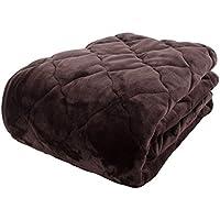 アイリスプラザ 敷きパッド セミダブル ベッドパッド プレミアムマイクロファイバー 洗える 静電気防止 とろけるような肌触り fondan 品質保証書付 ブラウン 120×200cm
