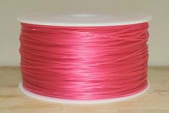 3Dプリンター用ABSフィラメント 【1.75mm】【1kg】【カラー選択可】 (クリアピンク)