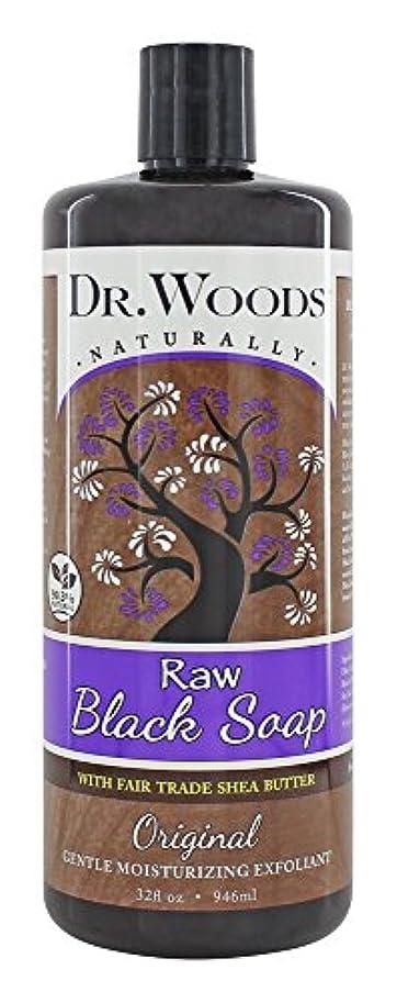 やろうストロー司教Dr. Woods - 公正貿易のシアバターの原物の液体の未加工黒い石鹸 - 32ポンド [並行輸入品]