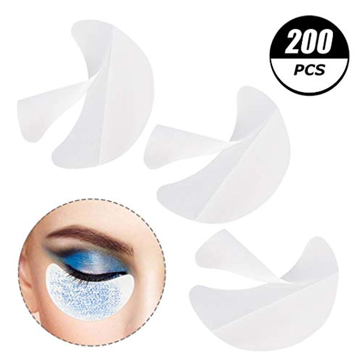 ロンドン拡声器バイオリニストサリーの店 凝った200個のアイシャドーシールドは、まつげ拡大、色合いと唇化粧残余化粧品ツールを防止するためにアイメイクパッドアイシャドーステンシルをシールドします