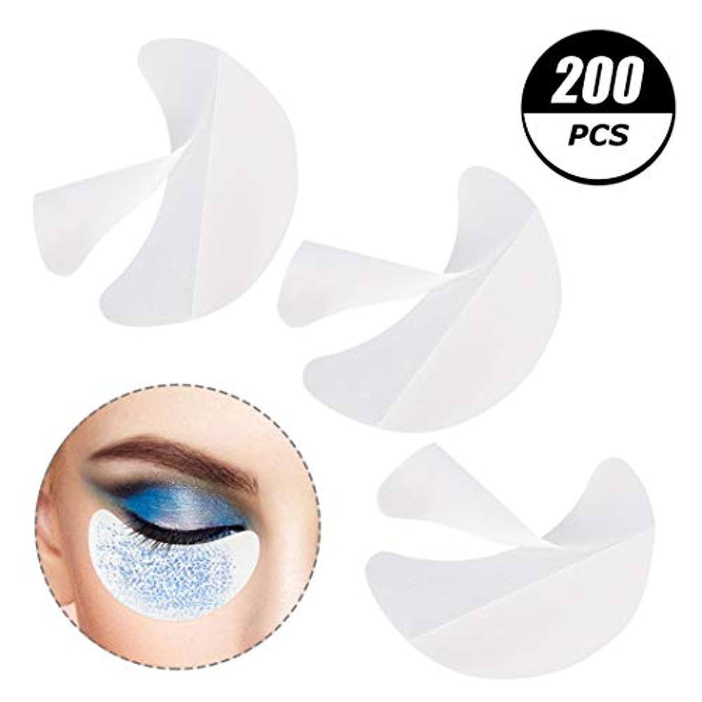 受信機みすぼらしいインレイサリーの店 凝った200個のアイシャドーシールドは、まつげ拡大、色合いと唇化粧残余化粧品ツールを防止するためにアイメイクパッドアイシャドーステンシルをシールドします