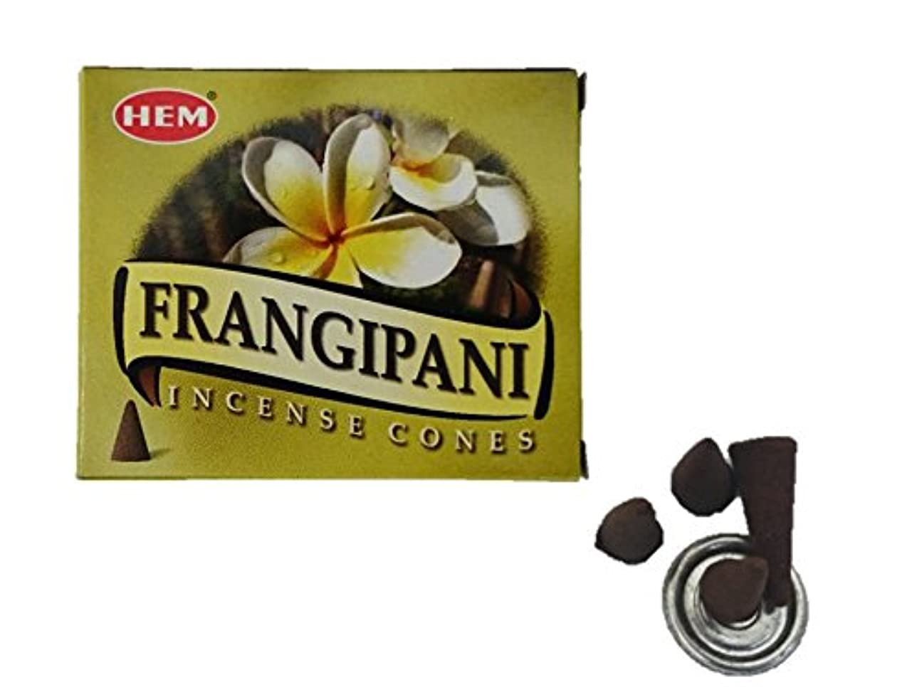 スクレーパー所有権可愛いHEM(ヘム)お香 フランジパニ コーン 1箱