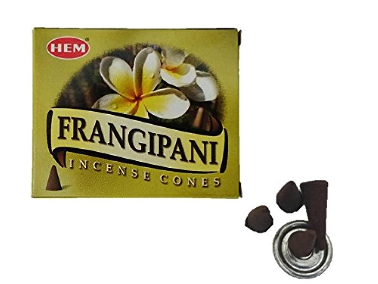 付き添い人重大洞察力HEM(ヘム)お香 フランジパニ コーン 1箱