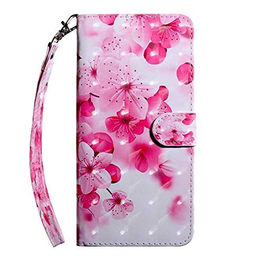 赤お母さん拳CUSKING Sony Xperia XA2 ケース 手帳型 財布型カバー Sony Xperia XA2 スマホカバー 磁気バックル カード収納 スタンド機能 エクスペリア レザーケース –さくら