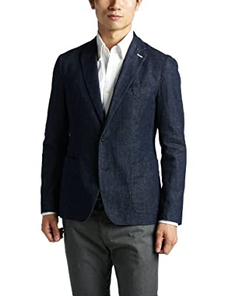 Denim 2-button Jacket 1222-174-0495: Navy