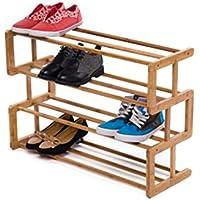 4段竹靴ラックソリッドウッド靴箱防塵クリエイティブSタイプ