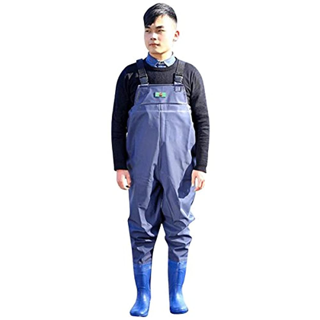 KUKUYA(ククヤ) ウェーダー 胴付き長靴 釣り用スーツ アウトドア 防水 漁業作業 農作業 水仕事 足サイズ25~28.5cm ネイビー