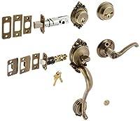 Schlage f62-brk-fla-lh Brookshireダブル円柱Handleset with Left Handed Int、 F62-BRK-FLA-LH