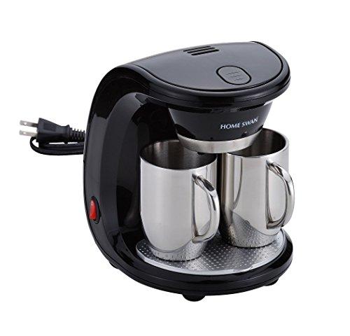 ホームスワン コーヒーメーカー2カップ ステンレスマグ DS...