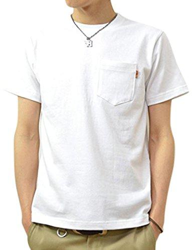 (ジーンズバグ) JEANSBUG 革タブ付 ポケT オリジナル 本革 タブ アクセント 半袖 無地 ポケット Tシャツ メンズ レディース 大きいサイズ PKST-L1