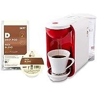 【セット買い】 UCC ドリップポッド 一杯抽出 コーヒーマシン カプセル式 ホワイト×レッド DP2A + 鑑定士の誇り リッチブレンド コーヒー 8個