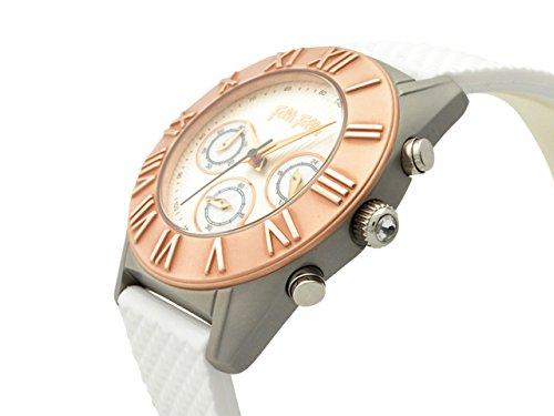 (フォリフォリ) Folli Follie 時計 クロノグラフ レディース 腕時計 シルバー ホワイト ピンクゴールド ステンレススチール ラバー wf8t006zezwh レディース ブランド 並行輸入品