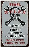 なまけ者雑貨屋 Tool Rules アメリカン ナンバー プレート ブリキ 看板 レトロ ヴィンテージ インテリア 雑貨