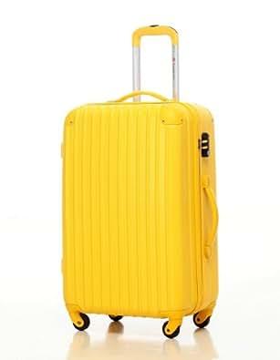 [Travelhouse]スーツケース キャリーケース 軽量 TSAロック ファスナータイプ 半鏡面仕上げ(SS, yellow)