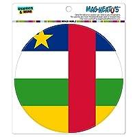 中央アフリカ共和国の共和国国立国旗 - サークル MAG-格好いい'S(TM)カー/冷蔵庫マグネット