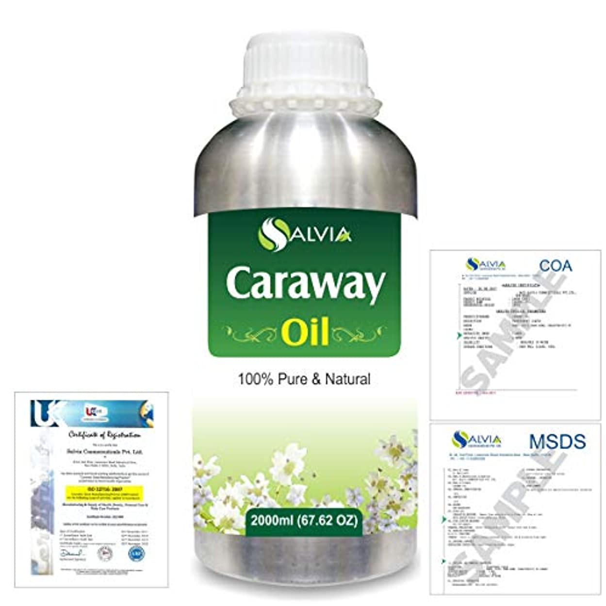 チョークハンディキャップ爆風Caraway (Carum carvi) 100% Natural Pure Essential Oil 2000ml/67 fl.oz.