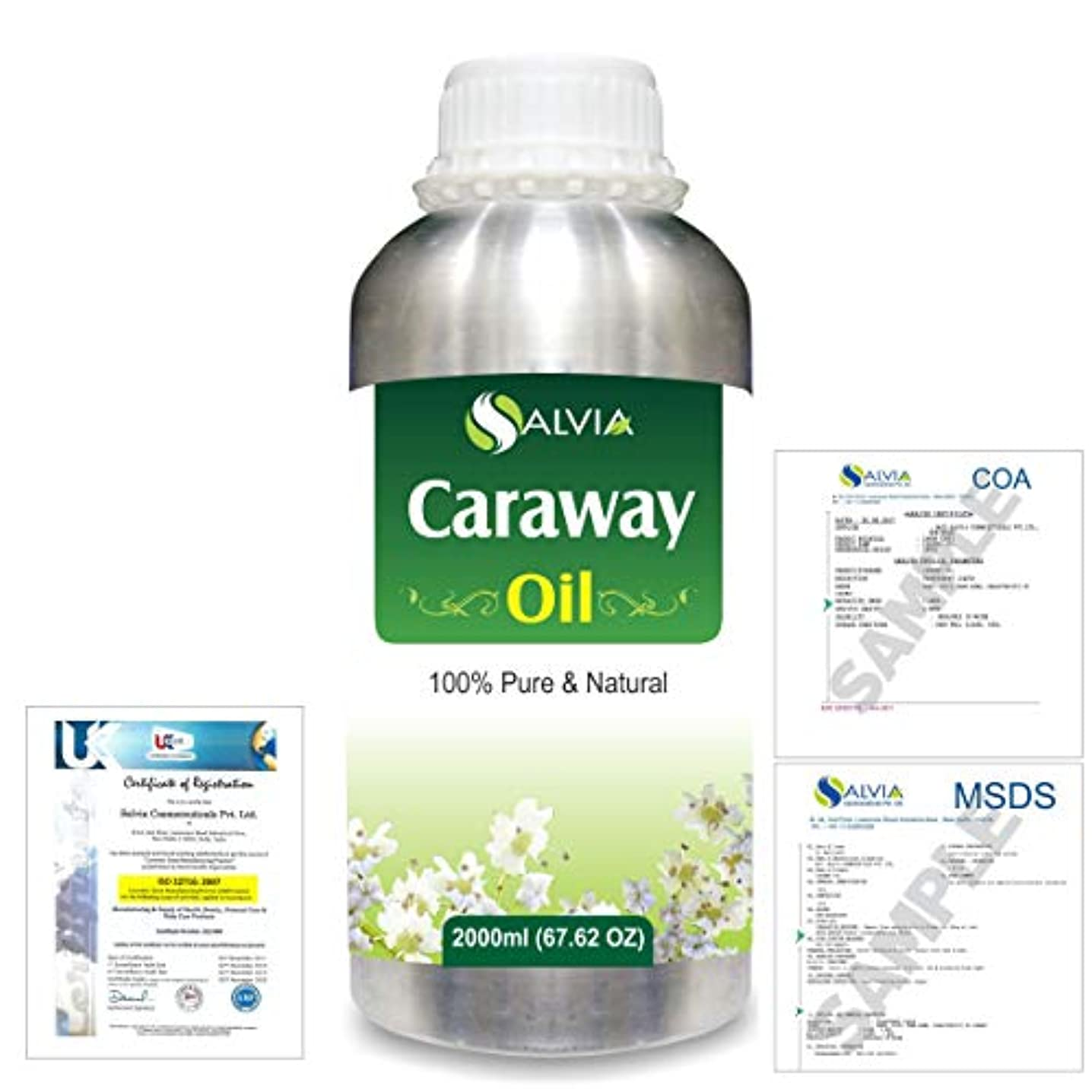 拒否先住民打たれたトラックCaraway (Carum carvi) 100% Natural Pure Essential Oil 2000ml/67 fl.oz.