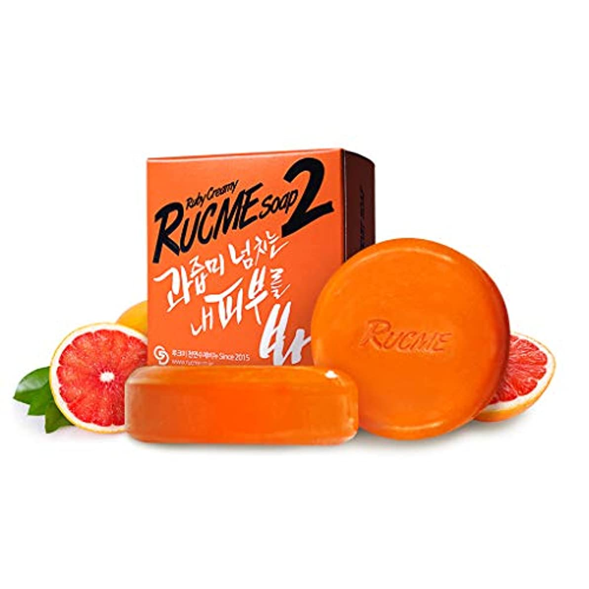 品揃えブレーキ市の花[RUCME] グレープフルーツ&パプリカ 洗顔石鹸/ルビークリーミーソープ 2