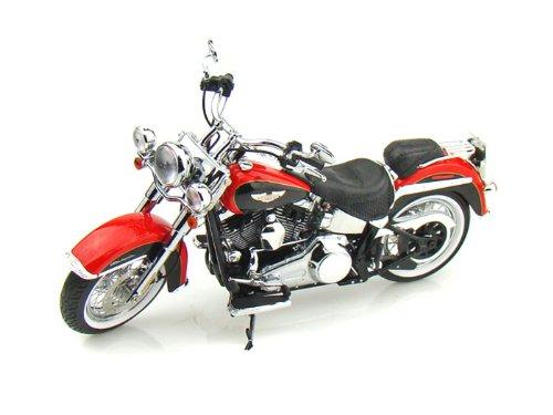 ダイキャスト バイク 2010 ハーレーダビッドソン FLSTN Softail Deluxe レッド 1/12