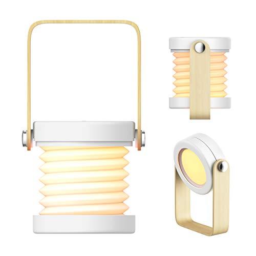 Awstech ベッドサイドランプ 間接照明 インテリア ナイトライト 電球色 3段階調光 テーブルランプ USB充電&タッチ式 常夜灯 室内用 アウトドア 停電対策 誕生日 プレゼント